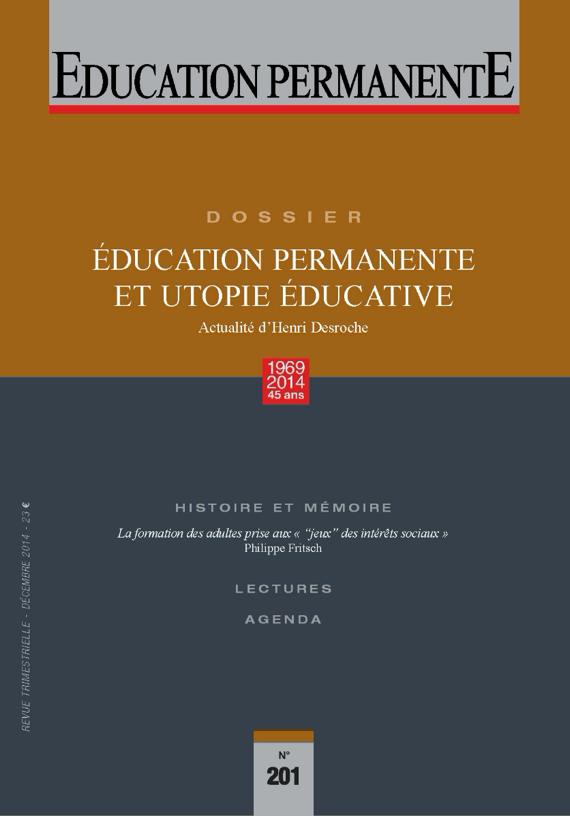 """Résultat de recherche d'images pour """"Education permanente desroche"""""""